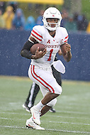 Annapolis, MD - October 8, 2016: Houston Cougars quarterback Greg Ward Jr. (1) in action during game between Houston and Navy at  Navy-Marine Corps Memorial Stadium in Annapolis, MD.   (Photo by Elliott Brown/Media Images International)