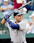 New York Yankees designated hitter Derek Jeter (2) bats in the first inning against the Baltimore Orioles at Oriole Park at Camden Yards in Baltimore, Maryland in the first game of a doubleheader on Sunday, August 28, 2011.  With this at bat, Jeter surpassed Mickey Mantle (2,401) for the most games played by a Yankee in franchise history..Credit: Ron Sachs / CNP.(RESTRICTION: NO New York or New Jersey Newspapers or newspapers within a 75 mile radius of New York City)