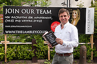 Scott Whittaker, landlord of The Lambley pub, which is reopening in late summer, with his book, Take Home the Taste Of The Lambley Village Kitchen<br /> By Scott Whittaker