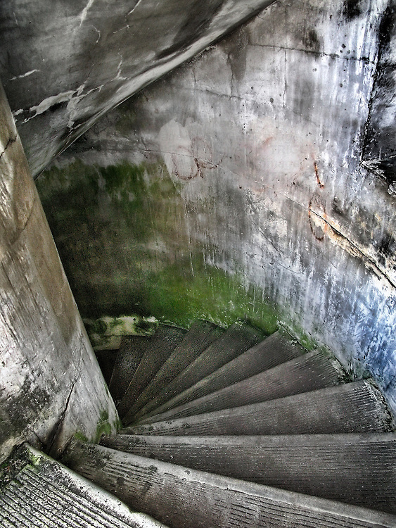 A concrete stairwell