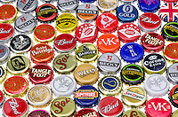 Crown Bottle Caps from Various Alcoholic Drinks - Jan 2013.