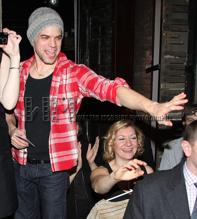 Jeremy Jordan & Company.attending the Opening Night Gypsy Robe Ceremony for.'Bonnie & Clyde' at the Gerard Schoenfeld Theatre in New York City.