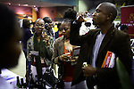 SOWETO, SOUTH AFRICA SEPTEMBER 2: Up-market black people sips vine during a yearly Vine and Brandy festival on September 2, 2006 in Soweto, Johannesburg, South Africa. Many of the country?s vine makers came to Soweto to introduce the newly economically empowered people about vine. Traditionally, most people drink beer and whiskey and the vine makers are targeting a new black elite that have money to spend. Soweto is South Africa?s largest township and it was founded about one hundred years to make housing available for black people south west of downtown Johannesburg. The estimated population is between 2-3 million. Many key events during the Apartheid struggle unfolded here, and the most known is the student uprisings in June 1976, where thousands of students took to the streets to protest after being forced to study the Afrikaans language at school. Soweto today is a mix of old housing and newly constructed townhouses. A new hungry black middle-class is growing steadily. Many residents work in Johannesburg but the last years many shopping malls have been built, and people are starting to spend their money in Soweto.  .(Photo by Per-Anders Pettersson/Getty Images).