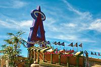 Angels, A, Halo, Baseball Logo, Stadium, Rose Parade;  Pasadena; CA, Tournament of Roses, LA California; Los Angeles High dynamic range imaging (HDRI or HDR)