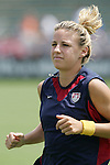 30 July 2006: Aly Wagner. The United States Women's National Team defeated Canada 2-0 at SAS Stadium in Cary, North Carolina, in an International Friendly match.