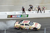 30 March - 1 April, 2012, Martinsville, Virginia USA.Ryan Newman burnout.(c)2012, Scott LePage.LAT Photo USA