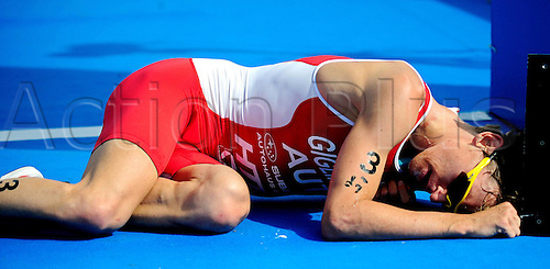 14 08 2010   Triathlon  ITU World Championship Kitzbuhel Austria  Picture shows The Exhaustion from Andreas Giglmayr AUT