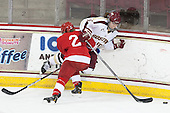 Alyssa Gagliardi (Cornell - 2), Alex Carpenter (BC - 5) - The Boston College Eagles defeated the visiting Cornell University Big Red 4-3 (OT) on Sunday, January 11, 2012, at Kelley Rink in Conte Forum in Chestnut Hill, Massachusetts.