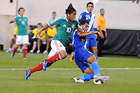 Guatemala Cristian Noriega (3) shields the ball against Mexico Giovani Dos Santos (10)    Mexico defeated Guatemala 2-1 in the quaterfinals for the 2011 CONCACAF Gold Cup , at the New Meadowlands Stadium, Saturday June 18, 2011.