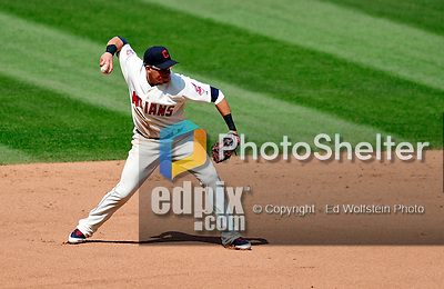 6 September 2009: Cleveland Indians' shortstop Asdrubal Cabrera in action against the Minnesota Twins at Progressive Field in Cleveland, Ohio. The Indians defeated the Twins 3-1 to take the rubber match of their three-game weekend series. Mandatory Credit: Ed Wolfstein Photo