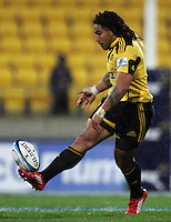 Ma'a Nonu chips ahead. Super 15 rugby match - Hurricanes v Lions at Westpac Stadium, Wellington, New Zealand on Saturday, 4 June 2011. Photo: Dave Lintott / lintottphoto.co.nz