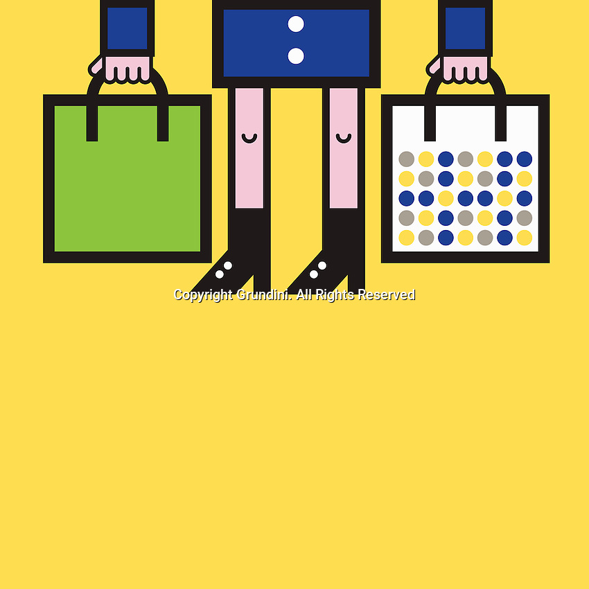 Woman holding shopping bags  ExclusiveImage ExclusiveArtist