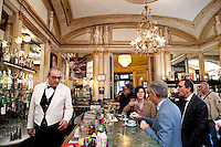 Caffe Gambrinus in Naples, offering 'caffè sospeso' or suspended coffee