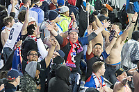 SAN JOSE, CA - March 24, 2017: US Soccer fans at the CONCACAF World Cup Qualifier game between the USA and Honduras at Avaya Stadium.