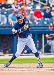 1 March 2017: Houston Astros infielder Carlos Correa in Spring Training action against the Miami Marlins at the Ballpark of the Palm Beaches in West Palm Beach, Florida. The Marlins defeated the Astros 9-5 in Grapefruit League play. Mandatory Credit: Ed Wolfstein Photo *** RAW (NEF) Image File Available ***