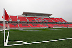 27 April 2007: A view of the main West Stand taken from the southeast corner of the field.  BMO Field in Toronto, Ontario, Canada on the day before it was scheduled open with the inaugural home match of Major League Soccer expansion team Toronto FC.