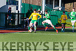 Niall McGillicuddy takes on  the Ferrybank defence during their FAI cup clash in Celtic Park on Saturday