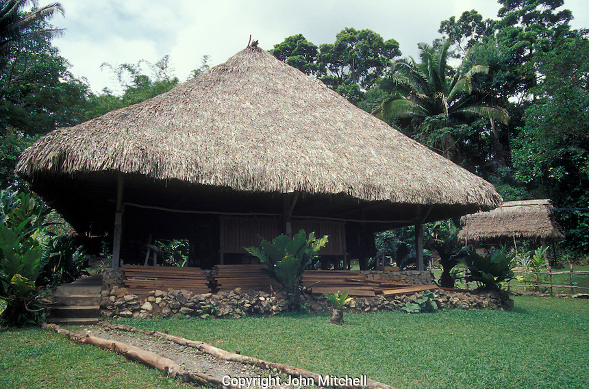 Interpretive Centre at the Biotopo Chocon Machacas manatee reserve on the Rio Dulce, Guatemala