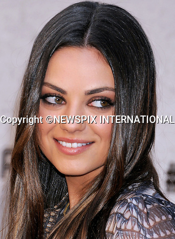 """MILA KUNIS.attends the Spike TV's Guys Choice Awards 2011 at Sony Pictures Studios, Culver City, California_04/06/2011.Mandatory Photo Credit: ©Crosby/Newspix International..**ALL FEES PAYABLE TO: """"NEWSPIX INTERNATIONAL""""**..PHOTO CREDIT MANDATORY!!: NEWSPIX INTERNATIONAL(Failure to credit will incur a surcharge of 100% of reproduction fees)..IMMEDIATE CONFIRMATION OF USAGE REQUIRED:.Newspix International, 31 Chinnery Hill, Bishop's Stortford, ENGLAND CM23 3PS.Tel:+441279 324672  ; Fax: +441279656877.Mobile:  0777568 1153.e-mail: info@newspixinternational.co.uk"""