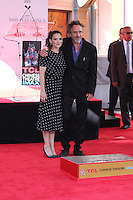 HOLLYWOOD, CA - SEPTEMBER 08: Winona Ryder and Time Burton attend Director Tim Burton attends his Hand and Footprint Ceremony at TCL Chinese Theatre IMAX on September 8, 2016 in Hollywood, California. (Credit: Parisa/MediaPunch LTD.)