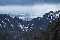 Mountain view from summit of Festvågtind, Austvågøy, Lofoten Islands, Norway