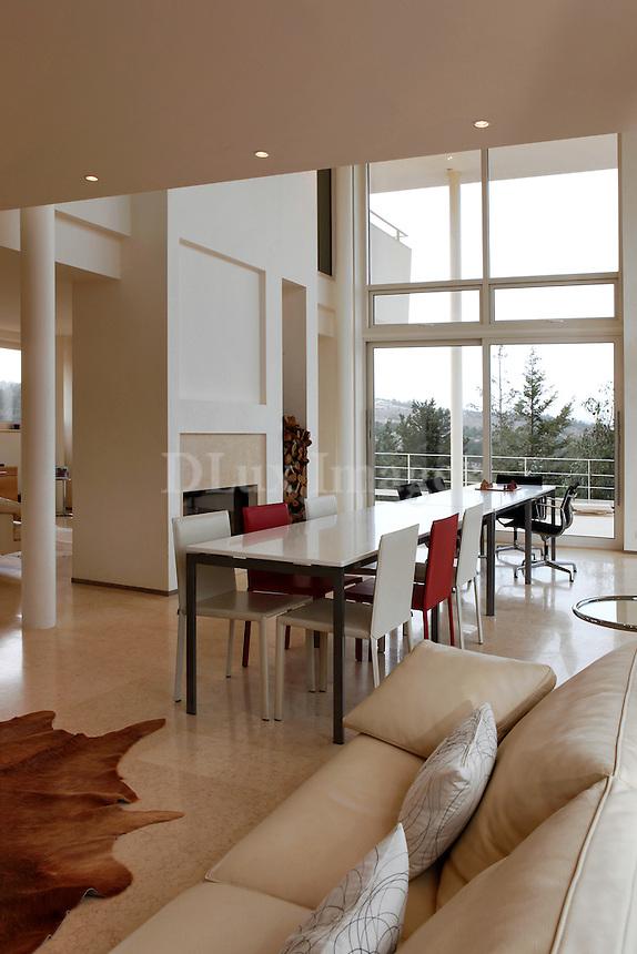 minimal white living room