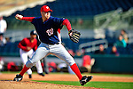 4 March 2010: Washington Nationals' pitcher Jason Bergmann on the mound during the Nationals-Astros Grapefruit League Opening game at Osceola County Stadium in Kissimmee, Florida. The Houston Astros defeated the Nationals split-squad 15-5 in Spring Training action. Mandatory Credit: Ed Wolfstein Photo
