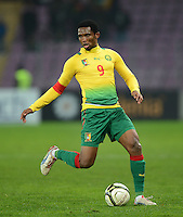FUSSBALL   INTERNATIONAL   Testspiel    Albanien - Kamerun       14.11.2012 Samuel Eto o (Kamerun) am Ball