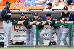 20 July 2007: Colorado Rockies infielder Jamey Carroll watches with teammates from the dugout during a game  against the Washington Nationals at RFK Stadium in Washington, DC. The Rockies defeated the Nationals 3-1 in the second game of their 4-game series...Mandatory Photo Credit: Ed Wolfstein Photo