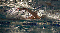 NWA Democrat-Gazette/J.T. WAMPLER Will O'Hare of Siloam Springs competes in the 100 yard freestyle Wednesday Feb. 15, 2017 at the 7A-West District swim meet in Bentonville.