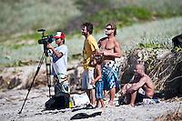 A cameraman, with GREG BROWNING (USA),  JAY OCCHILUPO (AUS), MARK OCCHILUPO (AUS) and  SHANE DORIAN (HAW) Surfing at DURANBAH BEACH, Australia ,   Photo: joliphotos.com