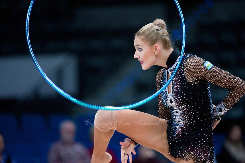 September 7, 2015 - Stuttgart, Germany -  ELIZAVETA NAZARENKOVA  of Uzbekistan performs during AA final at 2015 World Championships.