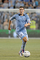 Matt Besler (5) defender Sporting KC in action..Sporting Kansas City and New England Revolution played to a 0-0 tie at LIVESTRONG Sporting Park, Kansas City, KS.