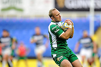Shane Geraghty of London Irish claims the ball. Aviva Premiership match, between London Irish and Bath Rugby on November 7, 2015 at the Madejski Stadium in Reading, England. Photo by: Patrick Khachfe / Onside Images