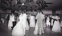 Photo form the May 10, 1986 Bentonville High School Prom. A Photo form the NorthWest Arkansas Democrat-Gazette Archive.