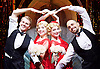 Side Show <br /> at Southwark Playhouse, London, Great Britain <br /> 25th October 2016 <br /> <br /> <br /> <br /> Dominic Hodson as Buddy Foster<br /> <br /> Louise Dearman and Laura Pitt-Pulford as conjoined twins Daisy and Violet Hilton<br /> <br /> Nuno Queimado as Reptile Man<br /> <br /> Side Show is presented by Paul Taylor-Mills<br /> Music composed by Henry Krieger<br /> Book and Lyrics by Bill Russell<br /> Additional Book material is by Bill Condon<br /> Directed by Hannah Chissick<br /> Choreography by Matthew Cole <br /> Design by takis <br /> Musical direction by Jo Cichonska<br /> Sound design by Dan Simpson<br /> <br /> <br /> Photograph by Elliott Franks <br /> Image licensed to Elliott Franks Photography Services