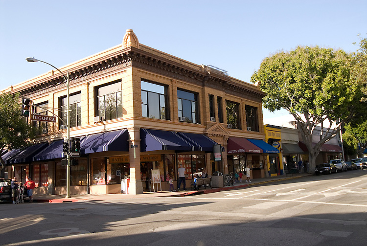 California, San Luis Obispo County: Downtown of San Luis Obispo..Photo caluis140-71139..Photo copyright Lee Foster, www.fostertravel.com, 510-549-2202, lee@fostertravel.com