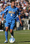 UCLA's Sal Zizzo on Sunday, November 26th, 2006 at Koskinen Stadium in Durham, North Carolina. The University of California Los Angeles Bruins defeated the Duke University Blue Devils 3-2 in sudden death overtime in an NCAA Division I Men's Soccer Championship quarterfinal game.