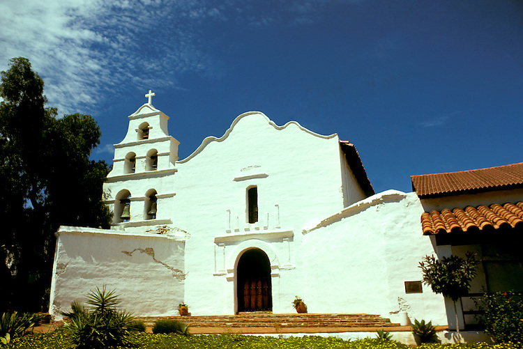California: San Diego.  San Diego Mission.  Photo #: casand105.  Photo copyright Lee Foster, 510/549-2202, lee@fostertravel.com, www.fostertravel.com
