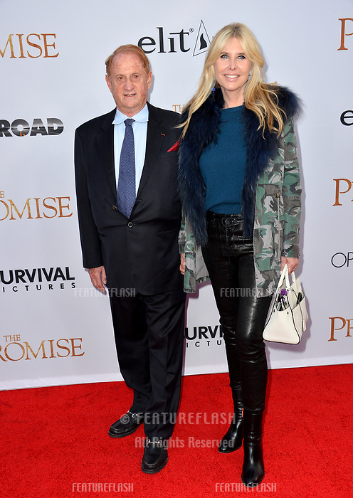 Mike Medavoy &amp; Irena Medavoy at the premiere for &quot;The Promise&quot; at the TCL Chinese Theatre, Hollywood. Los Angeles, USA 12 April  2017<br /> Picture: Paul Smith/Featureflash/SilverHub 0208 004 5359 sales@silverhubmedia.com