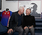 Fernando Ricksen with ex-Rangers player John MacDonald this afternoon as the players strips for his Rangers Legends v England Select benefit match are revealed. The match in Fleetwood on March 25th will raise funds for Moror Neurone research