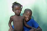 Children in an orphanage in Leogane, Haiti, who survived the January 12 earthquake. They are today cared for by volunteers from the Dominican-Haitian Women's Movement (MUDHA).