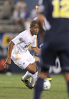 Darlington Naqbe #6 of the University of Akron during the 2010 College Cup semi-final against the University of Michigan at Harder Stadium, on December 10 2010, in Santa Barbara, California. Akron won 2-1.