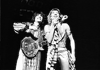 Rod Stewart and Faces (Ronnie Wood/Rod Stewart) 1973  Credit: Ian Dickson/MediaPunch