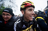 Amstel Gold Race 2012.Maastricht-Valkenburg: 256km..Philippe Gilbert happy with a decent result