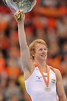 TURNEN: ROTTERDAM: Ahoy, WK Turnen, 24-10-2010, Epke Zonderland (NED), 2e plaats op rek, zilveren medaille, ©foto Martin de Jong