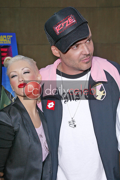 Christina Aguilera and David LaChapelle<br /> at the &quot;Rize&quot; Los Angeles Premiere, The Egyptian Theatre, Hollywood, CA 06-21-05<br /> Jason Kirk/DailyCeleb.com 818-249-4998