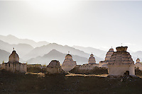 Shey Chorten Field, Shey,  Jammu and Kashmir, India. The largest chorten field in Ladakh.