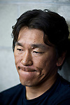 Hideki Matsui of the New York Yankees in Spring Training at Legends Field in Tampa, Florida for Bloomberg Markets