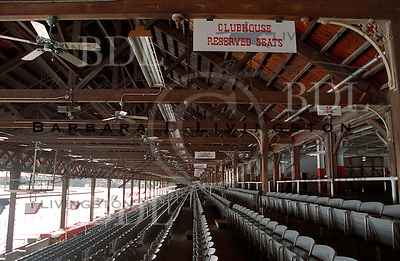 Saratoga Race Course, grandstand interior.